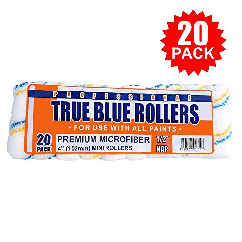 - True Blue Professional Paint Roller Covers, Best for All Types of Paint (20, 4