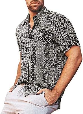 ღLILICATღ Camisa Hawaiana para Hombre Shirt de Manga Corta Retro Estampados de Etnico Tops, Regular Casual, Camiseta Bonita y Cómoda para Verano, Diversos Colores y Tallas: Amazon.es: Deportes y aire libre