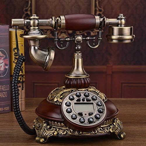 BZM-ZM ヴィンテージレトロなクリエイティブ電話ホームホームデコレーション用の固定発信者IDセット - 18x21x25cm(7x8x10inch)