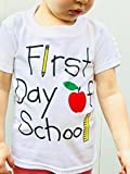 First Day of School Shirt, Daycare Shirt, Back to School, Short Sleeve, White, Size 2T