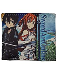 SAO wallet Sword Art Online, Anime Bifold Billfold for men women unisex