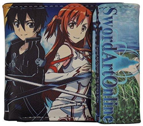 SAO wallet Sword Art Online, Anime Bifold Billfold for men women unisex (Style 1) (Cosplay Shop Online)