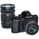 Olympus OM-D E-M10 Mark II Mirrorless Micro 4/3 Digital Camera with 14-42mm and 40-150mm Lenses (Black)