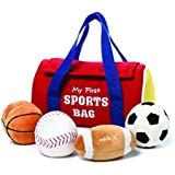 GUND My First Sports Bag Stuffed Plush Playset, 5 Piece, 8""
