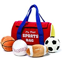 Baby GUND My First Sports Bag Stuffed Plush Playset, 5 pieces