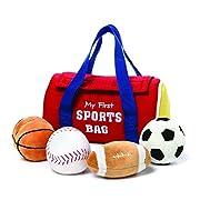 GUND My First Sports Bag Stuffed Plush Playset, 5 Piece, 8