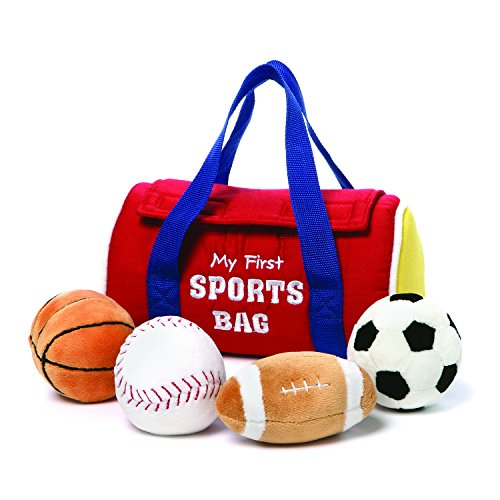 GUND My First Sports Bag Stuffed Plush Playset, 5 Piece, (Football Rattle)