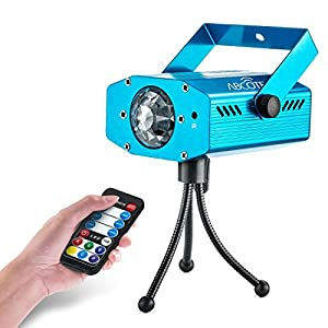 Party Projector Stage Light – 7 Color Ocean Wave Strobe Disco Lights with Variable Speeds – Music/Auto Mode – Perfect for Weddings, Karaoke, Bars, Parties, Xmas & DJ – Includes A Remote Controller