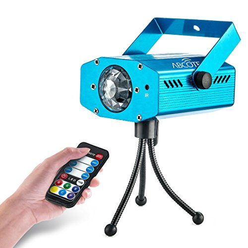 Party Projector Stage Light - 7 Color Ocean Wave Strobe Disco Lights with Variable Speeds - Music/Auto Mode - Perfect for Weddings, Karaoke, Bars, Parties, Xmas & DJ - Includes A Remote Controller
