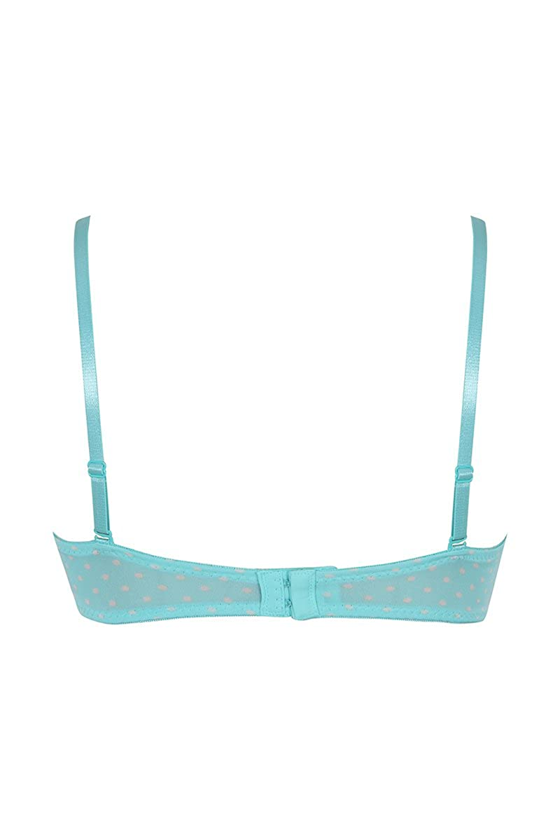 da9b6d991a8ba Zivame Polka Print Gentle Push-up Smooth Strapless Bra- Turquoise  Amazon.in   Clothing   Accessories