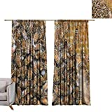 WinfreyDecor Exquisite Curtain Beehive Background Close-up Privacy Protection W120 x L96