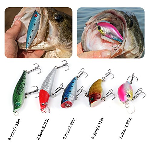 RUNCL Saltwater Surf Fishing Lures Kit, Fishing Baits Tackle