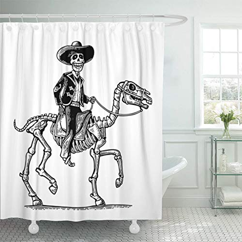 Emvency Fabric Shower Curtain with Hooks The Rider