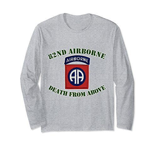 Airborne Long Sleeve T-shirt (Unisex 82nd Airborne - Ft Bragg, NC Long Sleeve T-shirt XL: Heather Grey)