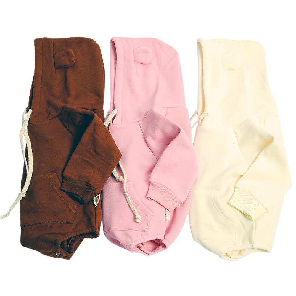 Gonxifacai Newborn Unisex Baby Infant Girls Boys Winter Hooded Ear Cloak Romper Bodysuit Clothes