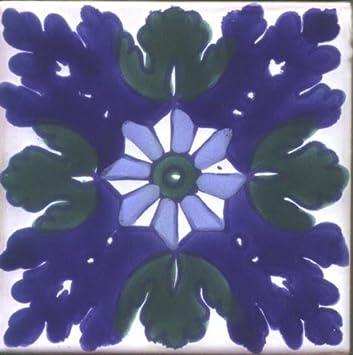 decorative ceramic tile ifriquia design set of 4 tiles - Decorative Ceramic Tile