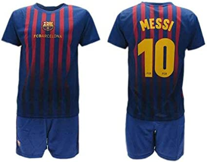 maglia+pantaloncino con patch liga Home kit Barcelona 2019-20 MESSI 10