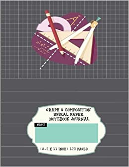 graph composition spiral paper notebook journal 1 4 squared