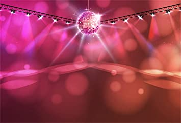Amazon Com Csfoto 8x6ft Background Disco Ball Abstract Neon