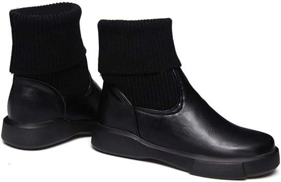 Mignon Femme Talon Bas Hauteur Mi-Mollet Bottes Chaussures Bout Rond augmentation US Taille Chaud