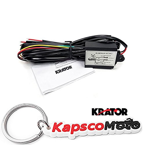 Krator LED Universal Daytime Running Light Automatic ON/OFF Controller Module Box Relay + KapscoMoto Keychain