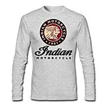 LESN Man Indian Motorcycle 1901 Antique Logo T-shirt Long Sleeve