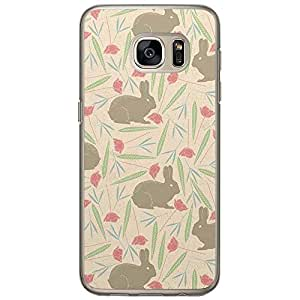 Loud Universe Samsung Galaxy S7 Spring Rabbit Pattern Printed Transparent Edge Case - Beige/Brown