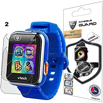 IPG for VTech Kidizoom Smartwatch DX2 Watch Screen Protector (2 Units) Invisible Ultra HD Clear Film Anti Scratch Skin Guard - Smooth/Self-Healing/Bubble - ...