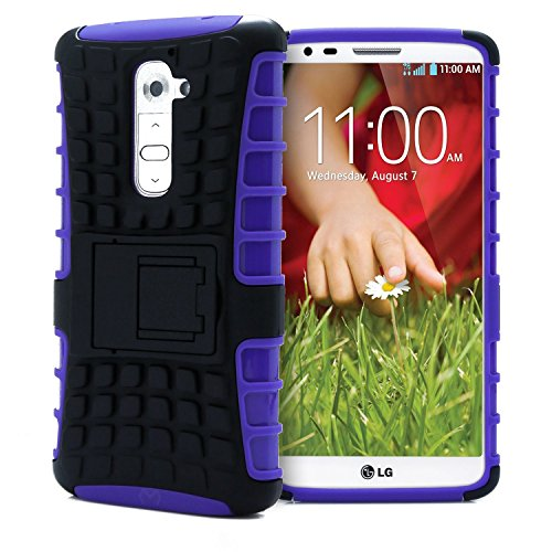 shockproof Defender Protective kickstand case Purple