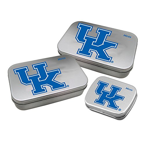 Worthy Promotional NCAA Kentucky Wildcats Decorative Mint Tin 3-Pack with Sugar-Free Mini Peppermint Candies