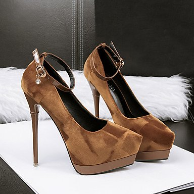 Dress Summer Stiletto Suede Buckle Women'sHeels Heel Spring Comfort UK4 CN36 US6 EU36 SwqR5
