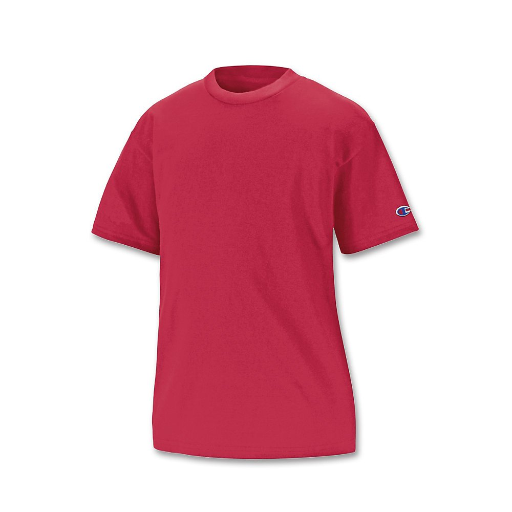 Champion Youth Jersey Tee Scarlet