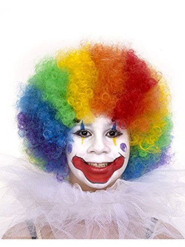 Child's Rainbow Clown Wig Child (One Size)