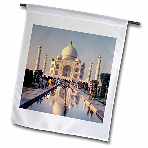 (3dRose fl_75432_1 India, Uttar Pradesh, Agra, Taj Mahal-AS10 RER0032-Ric Ergenbright Garden Flag, 12 by 18-Inch)
