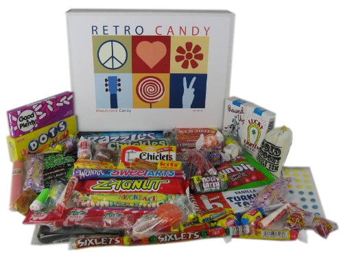 Woodstock Candy Retro Nostalgic Candy Variety Assortment Care Package Gift Box for Men and Women