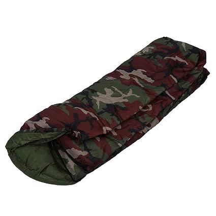 LOLIVEVE Sacos De Dormir del Camuflaje Saco De Dormir Que Acampa Algodón 15~5 Grados