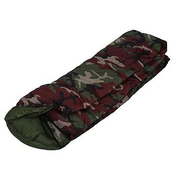 LOLIVEVE Sacos De Dormir del Camuflaje Saco De Dormir Que Acampa De Alta Calidad del Algodón 15~5 Grados 15~5: Amazon.es: Deportes y aire libre
