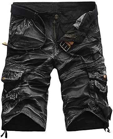 Summer Men Shorts Cargo Camo Slim Fit Lightweight Work Outdoor Beach Casual Shorts Pants with Pocket