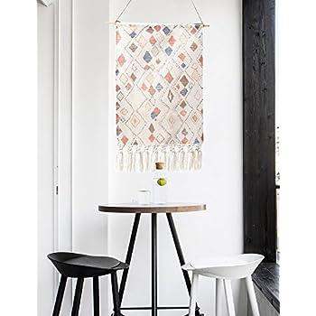 86234faccd211 KLOLKUTTA Macrame Wall Hanging, Textile Macrame Curtain Tapestry Woven Wall  Art Beautiful Apartment Studio Dorm Room Craft Decoration