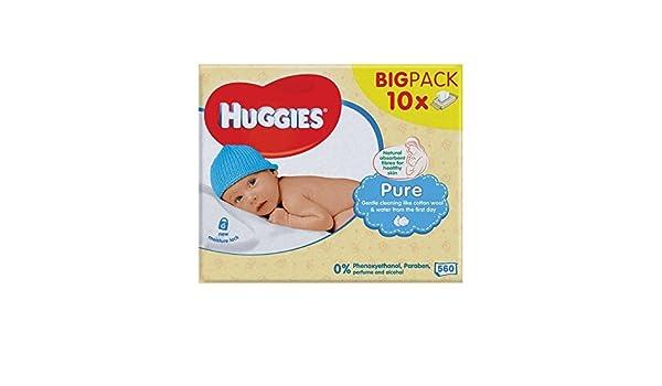 Huggies Puro Bebé Toallitas De 10 X 56 Por Paquete - Paquete de 4: Amazon.es: Bebé