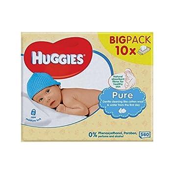 Huggies Reine Baby-Feuchttücher 10 X 56 Pro Packung - Packung mit 2