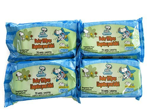 (Snoopy by Schultz Baby Wipes (Economy Pack of 4) 280 Wipes Total)