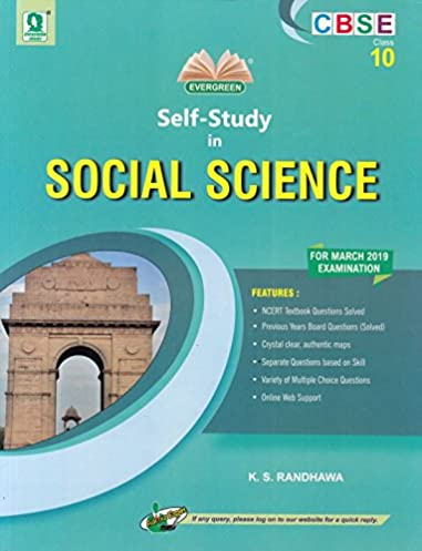 Evergreen science guide array cbse self study in social science for class 10 2018 2019 session rh amazon fandeluxe Gallery