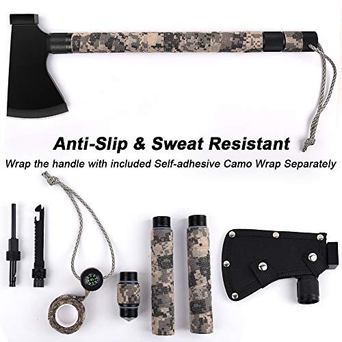 Camping Axe Multi-Tool Kit Survival Emergency Gear Portable