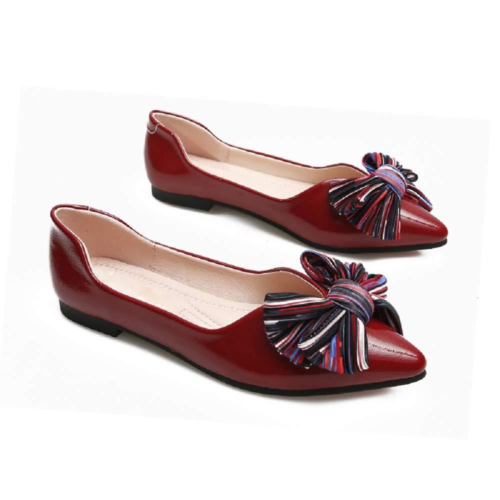 Qiusa Ballet Knot Ballet : Flats Femmes Chaussures à Bouts Femmes Pointus (coloré : Rouge, Taille : EU 42) Rouge a2fb930 - tbfe.space