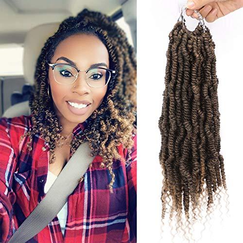 Spring Glorious (Stamped Glorious Spring Twist Hair Crochet Curly Hair Bomb Twist Braiding Hair Extension 4 Pack Spring Twist Crochet Braids(1B/27#))