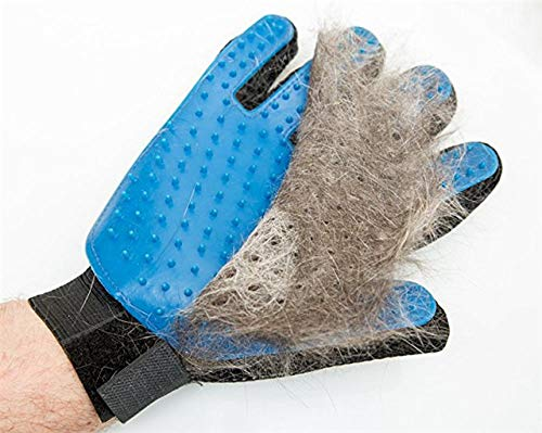 Pet Grooming Glove, Pet Hair Remover, Brushes, Massage, Five Finger Design, for Cats and Dogs (Right Hand)