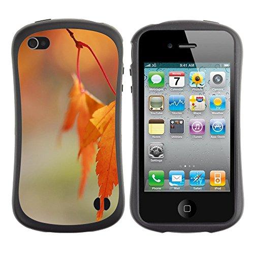 Apple Iphone 4 / 4S [Orange Leaves Bokeh]