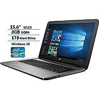 2017 HP Notebook High Performance 15.6 WLED-backlit Business Laptop, Intel Core i7-7500U up to 3.5GHz, 8GB DDR4, 1TB HDD, SuperMulti DVD burner, Bluetooth, HD Webcam, Windows 10