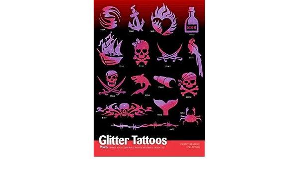 Tattoo Plantillas Set con 32 Plantillas Piratas del tesoro ...